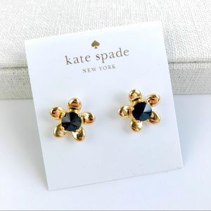 Kate spade black flower earrings